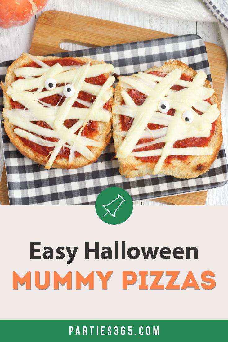 Easy Halloween Mummy Pizza recipe