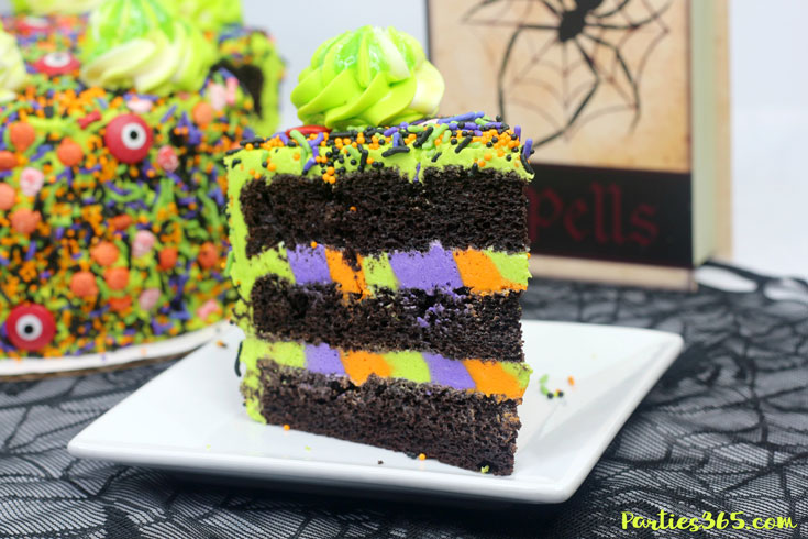 easy Halloween monster cake