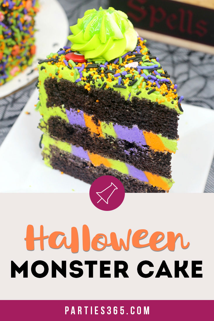 easy Halloween monster cake recipe