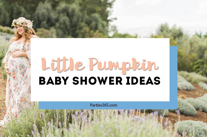 This Little Pumpkin themed Baby Shower is perfect for fall and works for a baby girl or a boy! Held on a stunning lavender farm in Hawaii, this autumn baby shower has lovely decorations, food, cookie favors and a cake to inspire your party planning! #babyshower #littlepumpkin #fallparty #pumpkinshower #partydecor