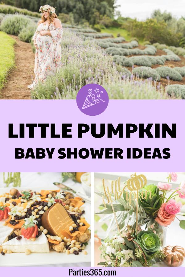 Little Pumpkin themed Baby Shower ideas