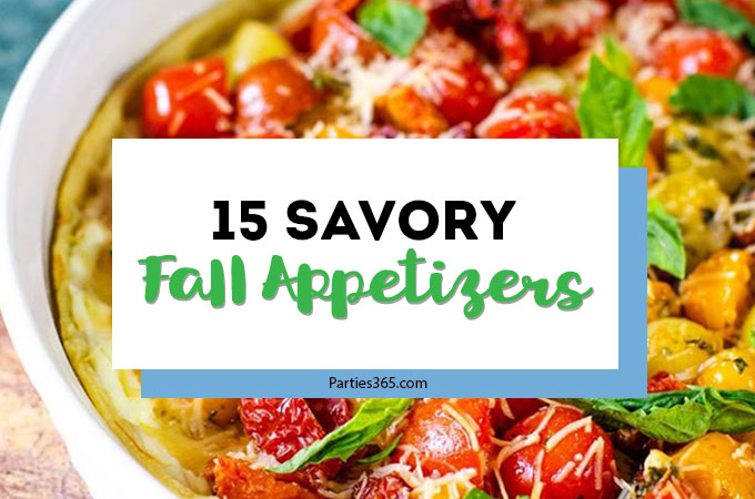 These Savory Fall Appetizers are the perfect party foods and snacks for a crowd! Find the best autumn appetizer recipes for entertaining, right here! #appetizers #partyfood #fallrecipes #entertaining