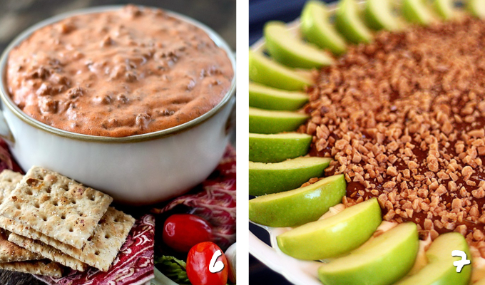 These Fall Dip Recipes are the perfect party foods and snacks for a crowd! Whether you want cold, warm or hot dips, you'll find the best autumn appetizer recipes for entertaining, right here! #appetizers #partyfood #fallrecipes #entertaining #dips