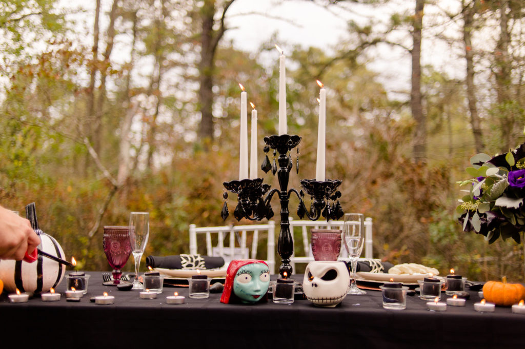 Jack and Sally Halloween Tablescape