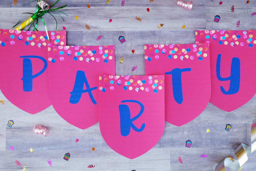 Printable party banners from Parties365