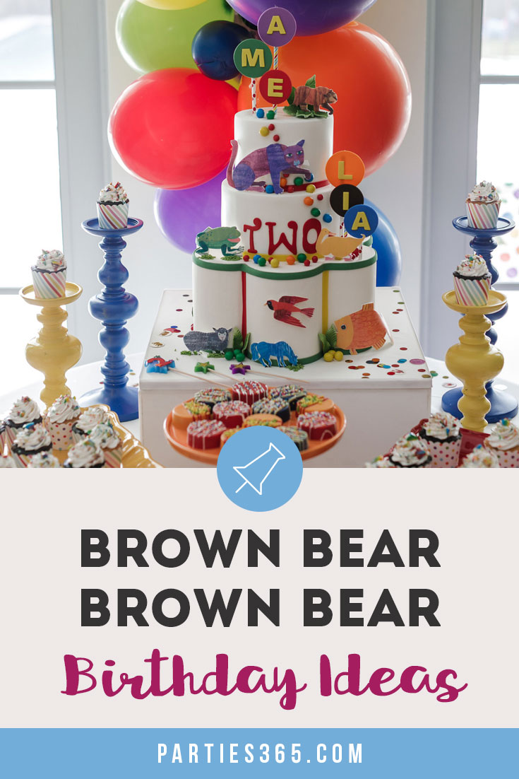 brown bear brown bear birthday party ideas