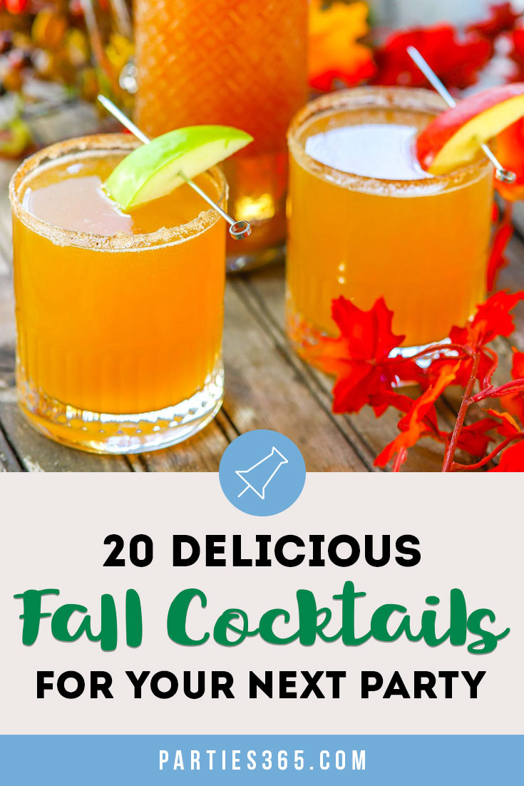 Looking for delicious fall cocktails for a crowd? Here are our favorite autumn drink recipes with alcohol - from vodka to whiskey and more - that are warm, easy and simple to make for Thanksgiving dinner or just because! #fallcocktail #cocktails #drinkrecipe #cocktailrecipe
