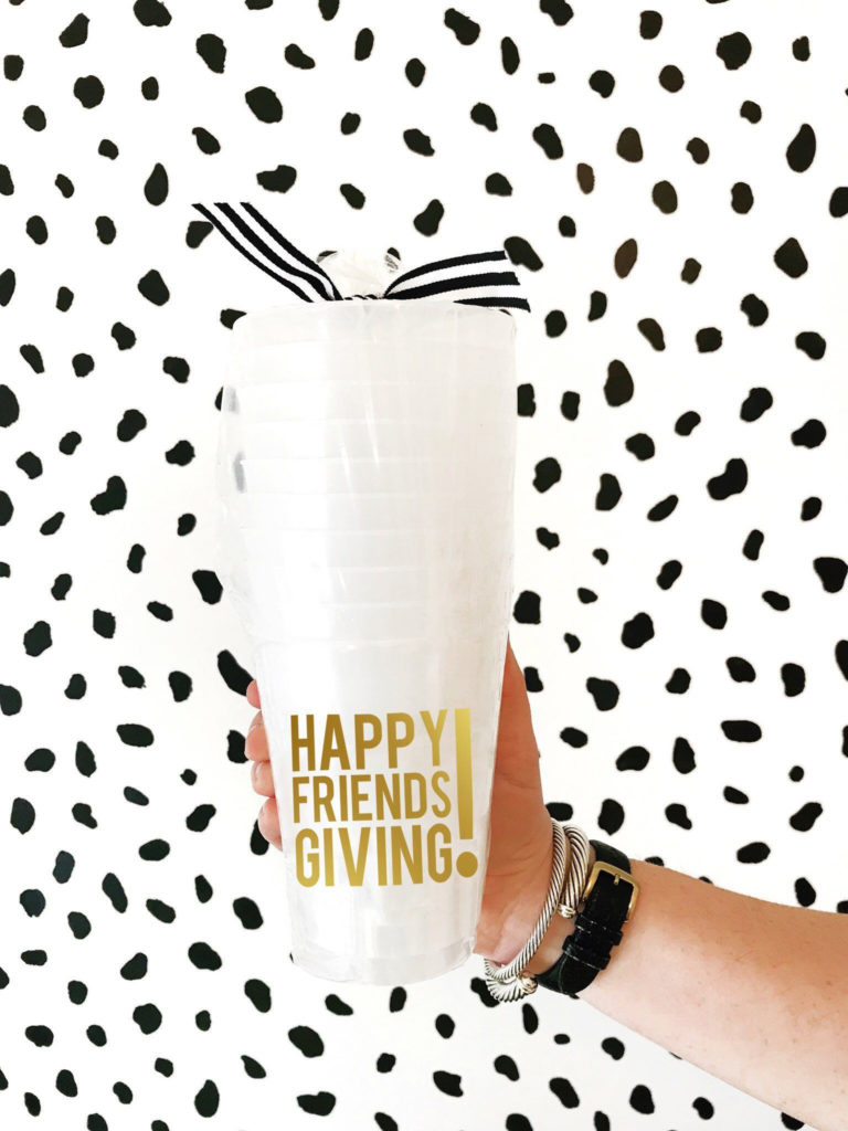 happy friendsgiving party cups