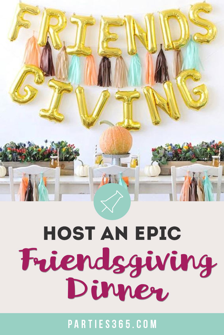 ideas for planning a Friendsgiving Dinner party