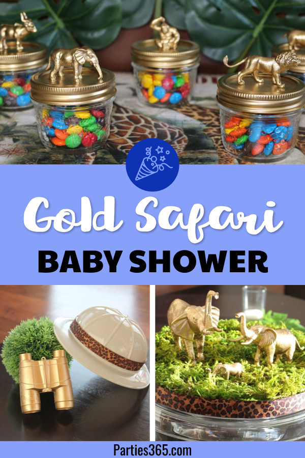 gold safari baby shower ideas