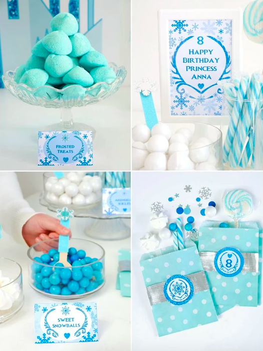 Frozen Birthday Party printable decorations