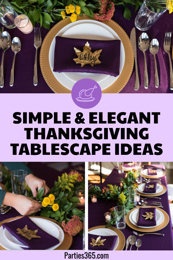 simple and elegant ideas for your Thanksgiving table decor