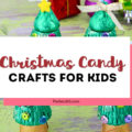 Looking for easy homemade gifts or projects for kids this Christmas? This adorable Christmas Candy Crafts Idea is simple and perfect to make for school! A Christmas Tree made with Reece's and Rolos is a DIY project everyone will love! #christmascraft #christmascandy #christmasgift #xmas #christmasDIY