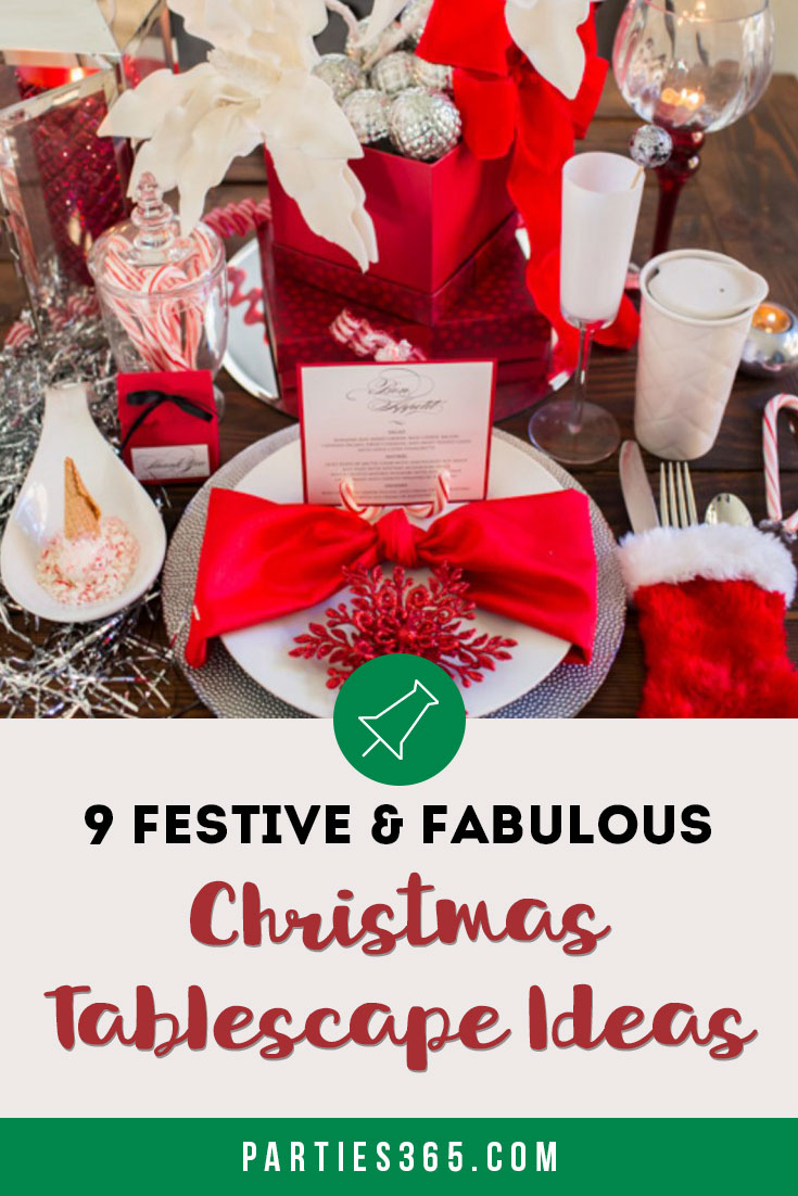 Set a festive and fabulous holiday table with these easy ideas for Christmas table decorations! With simple, modern, rustic and farmhouse-inspired styles in the mix, there's something for everyone! Find gorgeous tablescapes, centerpieces, table settings and more! #Christmasdecor #Christmastable #tablescape #holidaytable #tablesetting