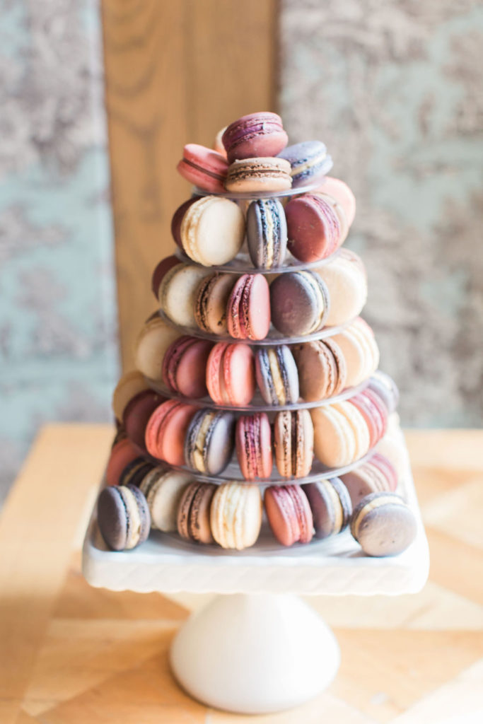tiered macaroons