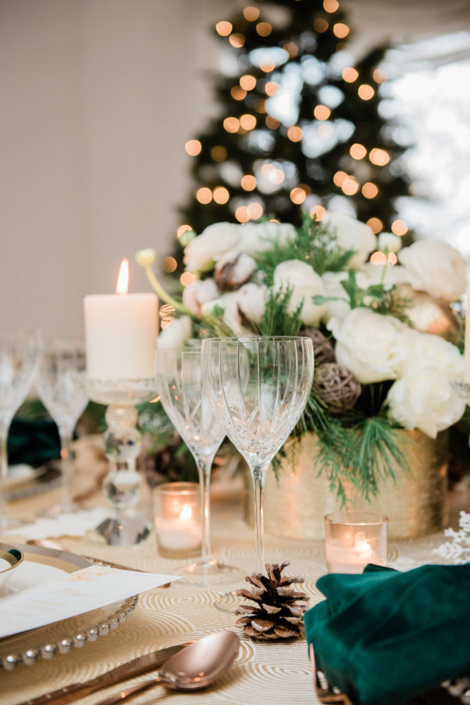 vintage Christmas table decoration ideas and centerpieces