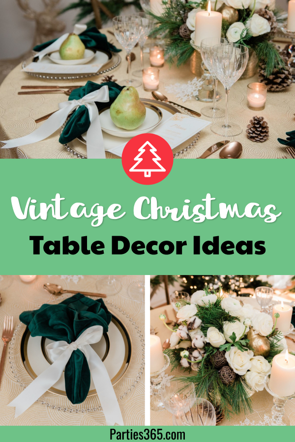 vintage Christmas table decor ideas