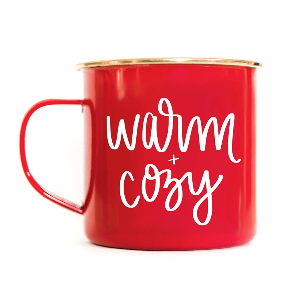 warm and cozy christmas mug