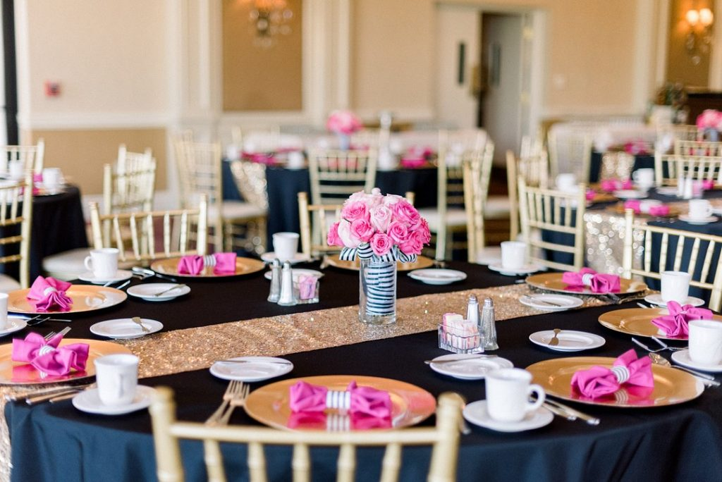 Kate Spade Inspired bridal shower tablescape