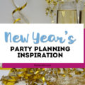 Looking for decorations, ideas and party supplies for a New Year's Eve or New Year's Day party? Grab our free New Year's printables, see tablescape ideas and more! #newyears #2020 #newyearseve #partysupplies