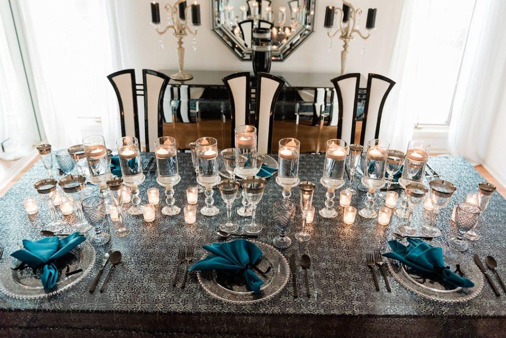 Hanukkah dinner table decor