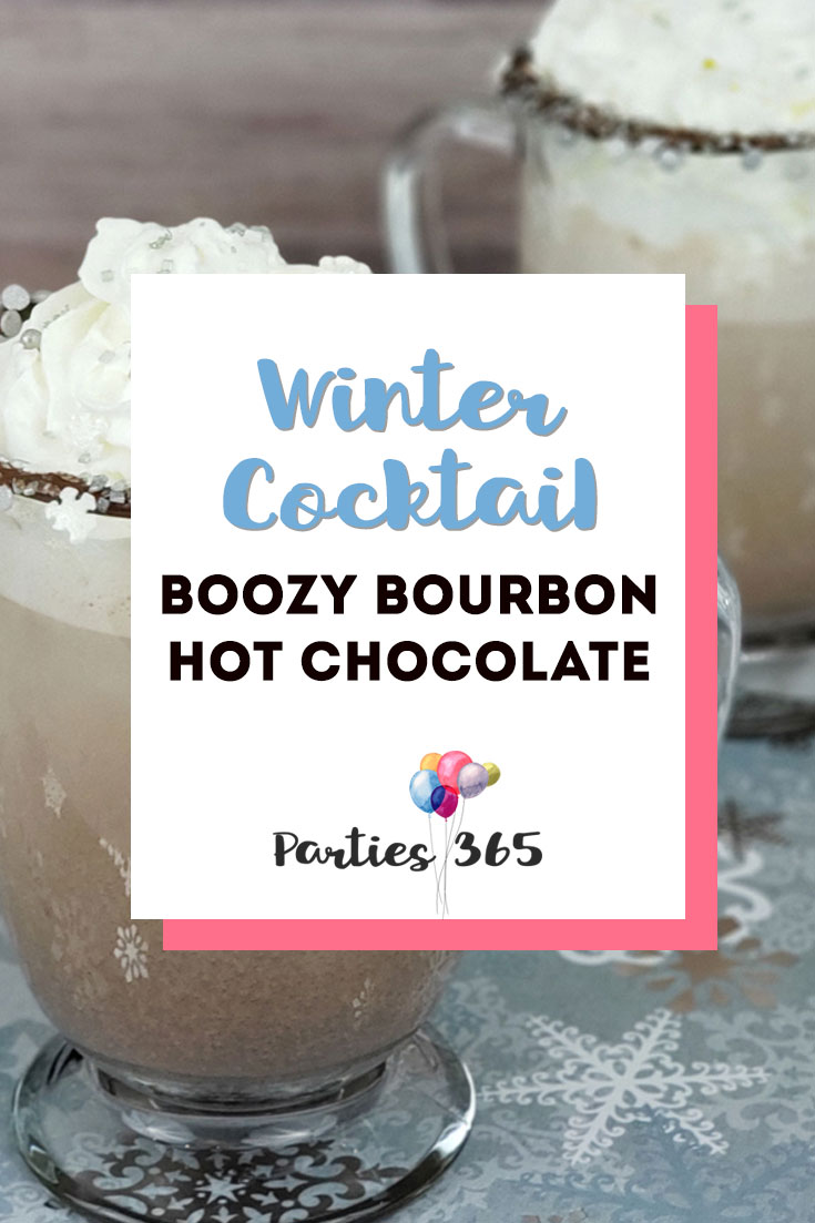 boozy bourbon hot chocolate winter cocktail recipe