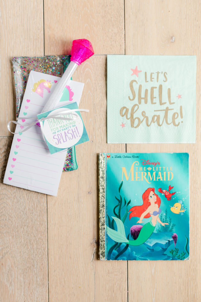Find adorable inspiration for your daughter's birthday party in this fabulous Mermaid Under the Sea themed party! Inspired by Disney's Little Mermaid, you'll love these ideas for decorations, food, favors and more! #mermaid #underthesea #birthdayparty #littlemermaid #partyideas