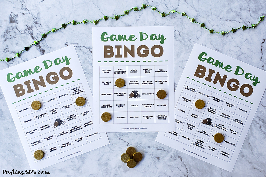 Super Bowl Party bingo printable game