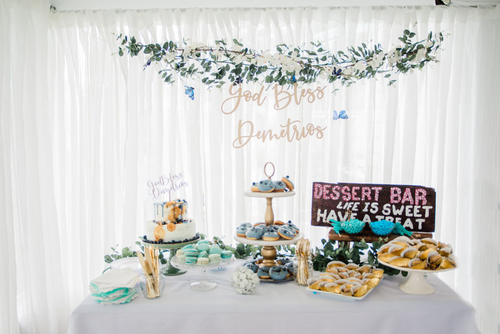 This Baptism Ceremony and Reception is full of ideas for a little boy (or girl)! The blueberry themed celebration features great ideas for the cake, centerpieces, decorations and more! If you're planning a baptism or christening, this party is a must-see.