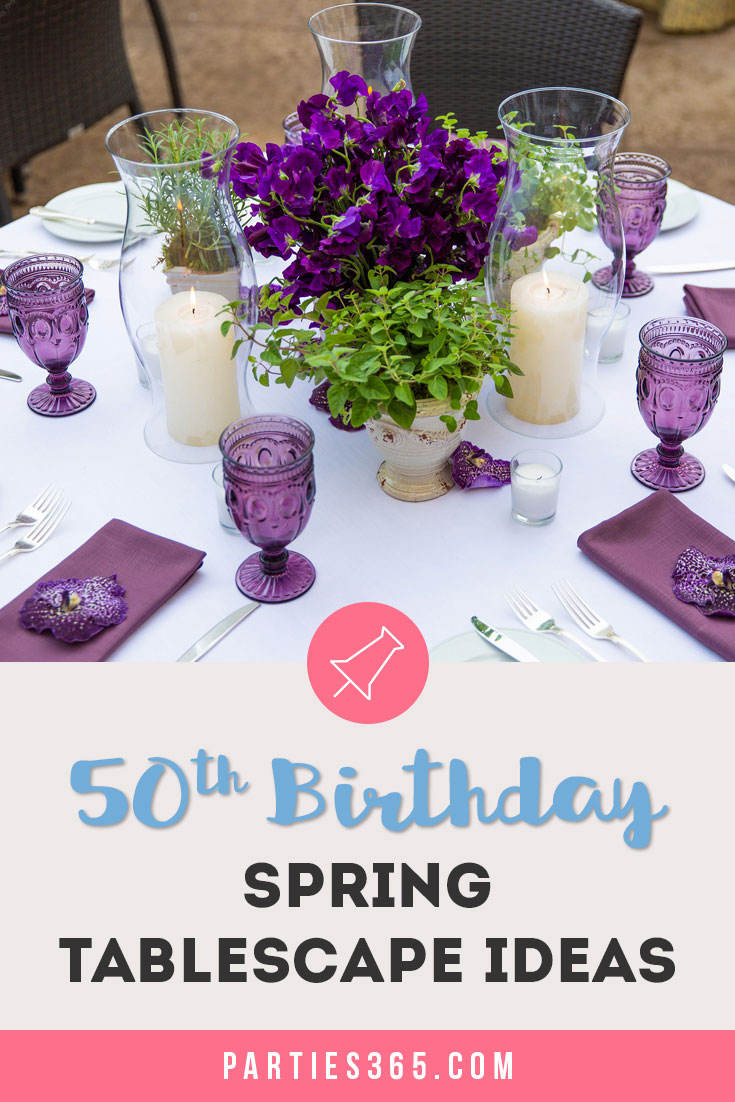 50th Birthday Spring Tablescape Ideas