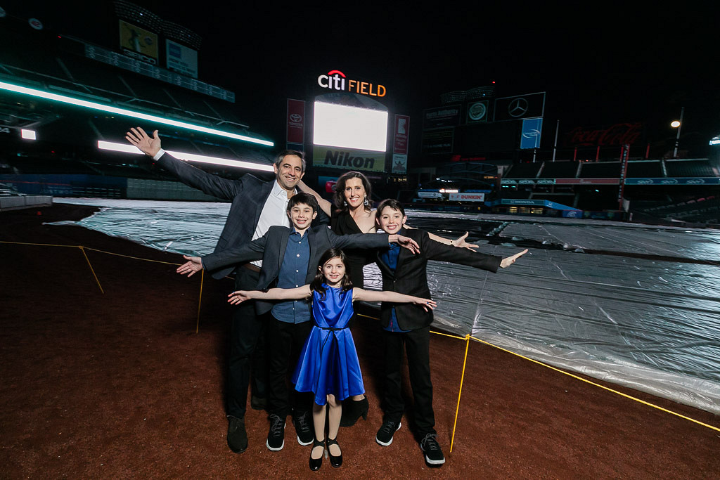 family at Citi Field