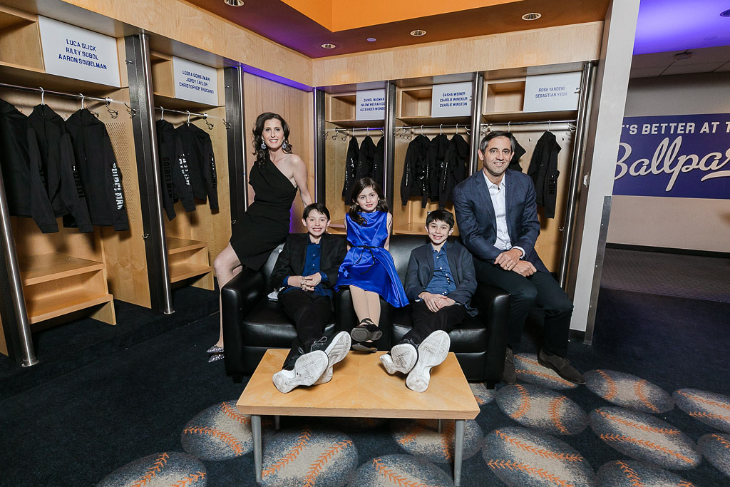 family in locker room at Citi Field