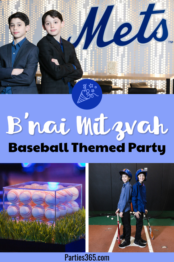 b'nai mitzvah baseball themed 13th birthday party