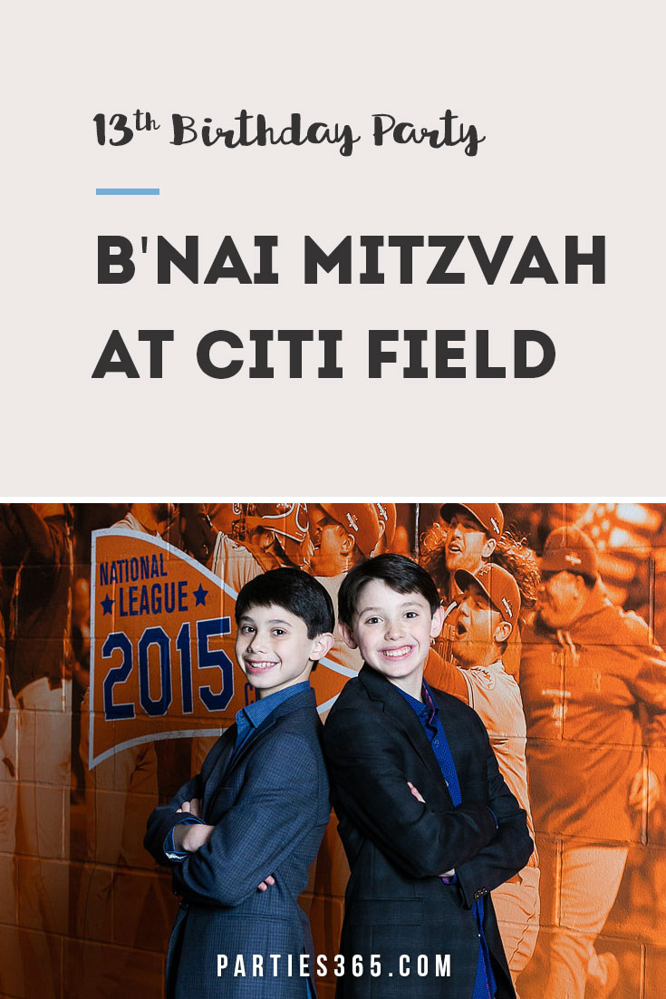 baseball themed b'nai mitzvah celebration at citi field