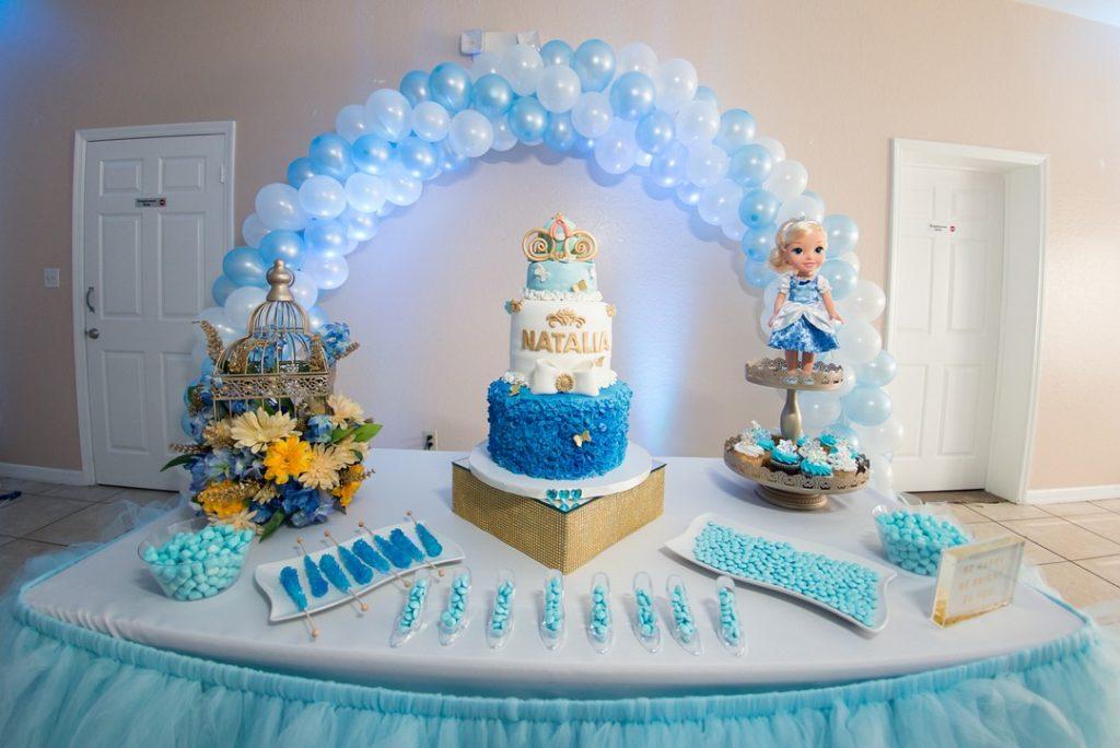 Disney princess party dessert table