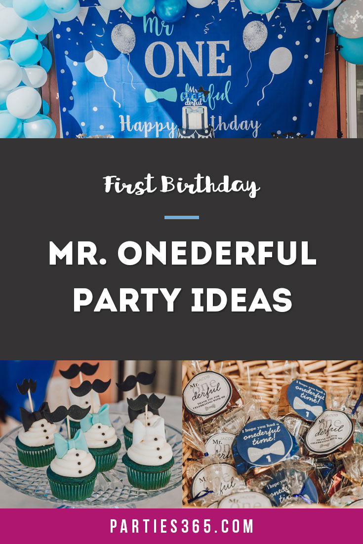 Mr ONEderful first birthday party