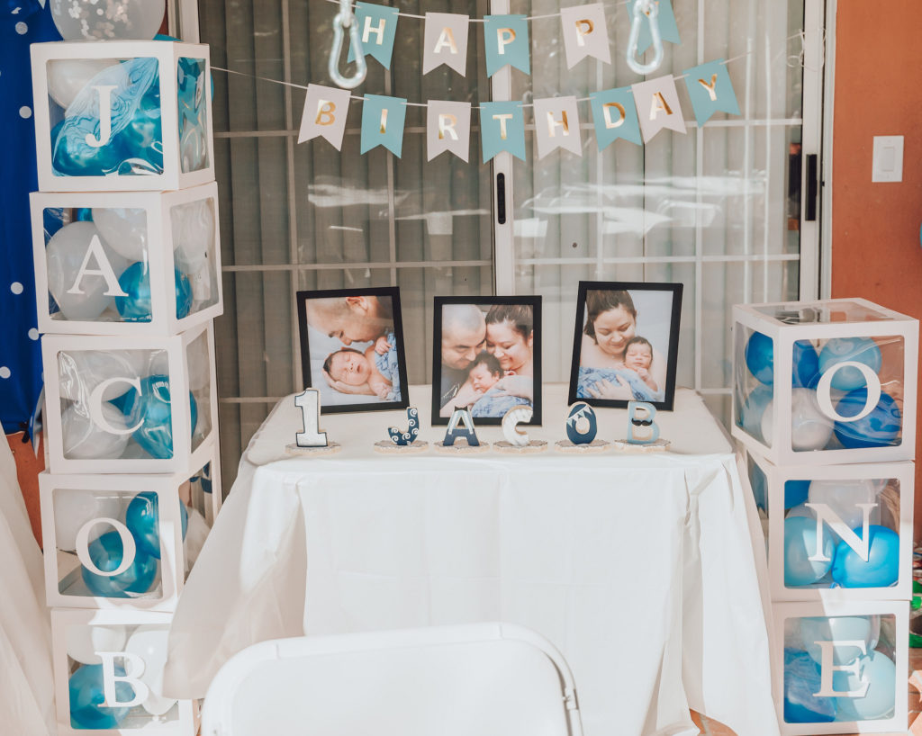 first birthday feature table