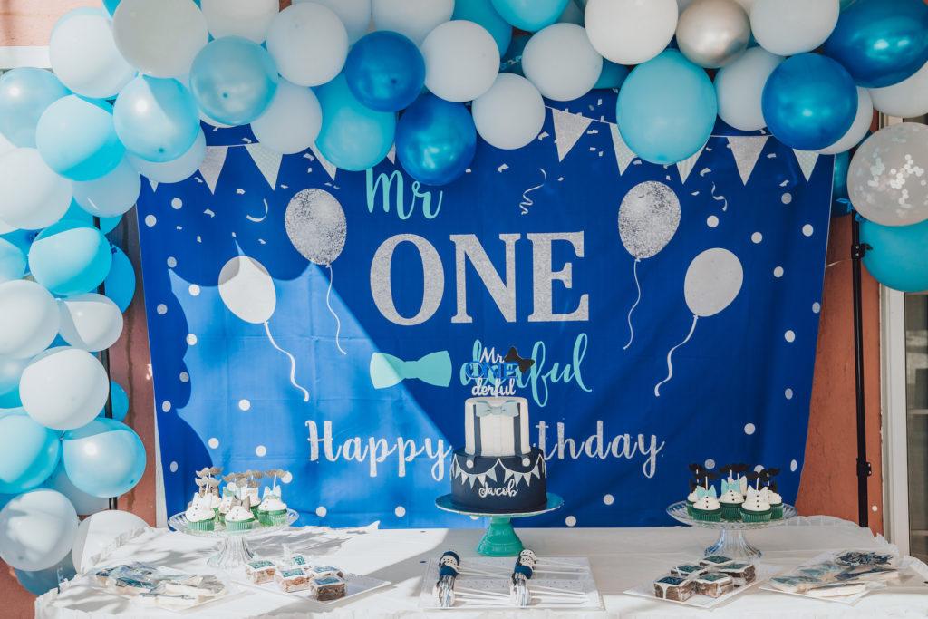 mr onederful first birthday dessert table