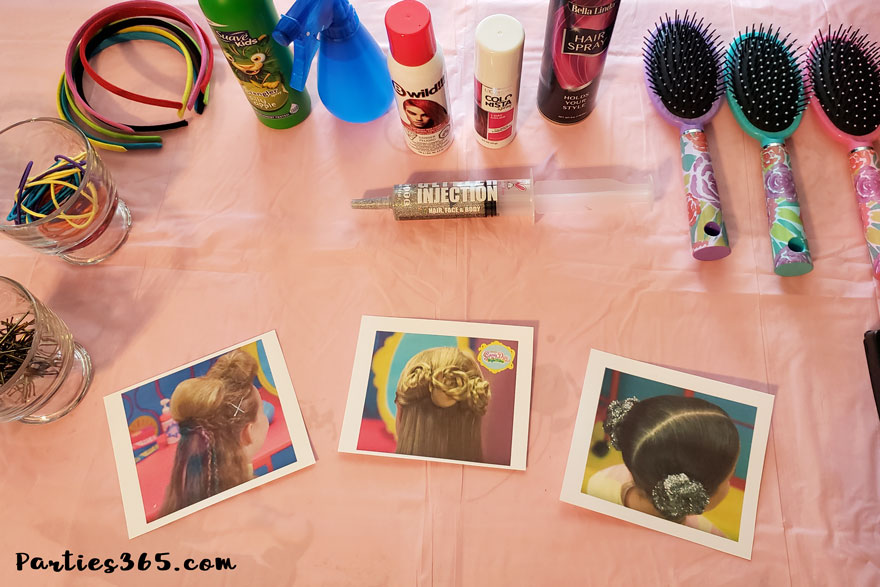 hair salon birthday party ideas