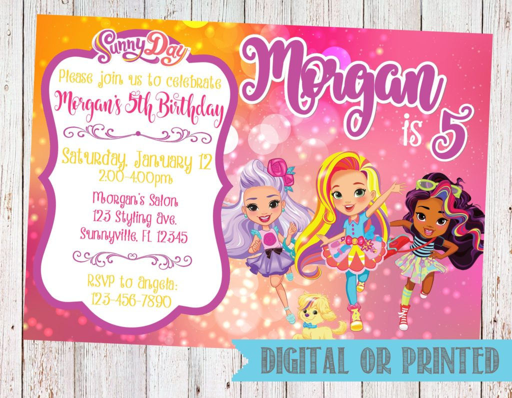Sunny Day Birthday Party invitation