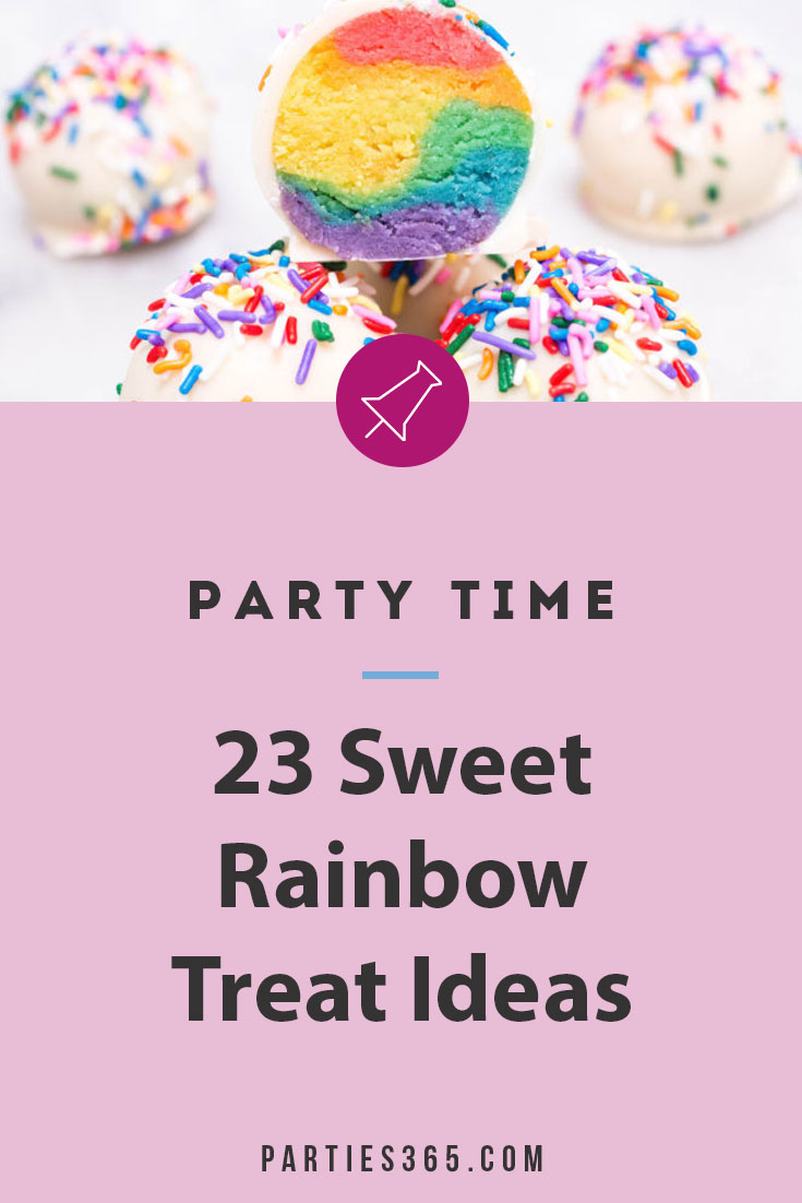 sweet rainbow treat ideas