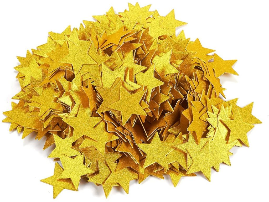 biodegradable gold star confetti
