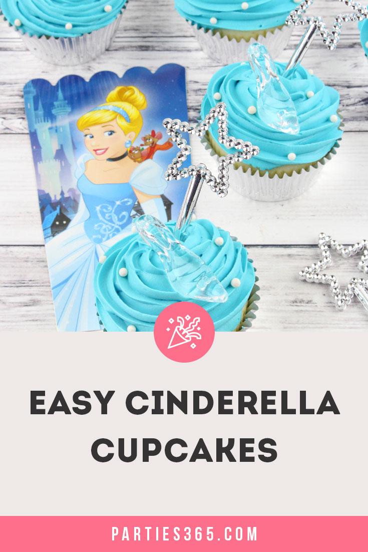 easy Cinderella cupcakes