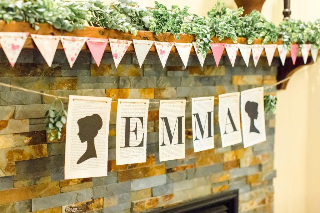 Jane Austen party banner