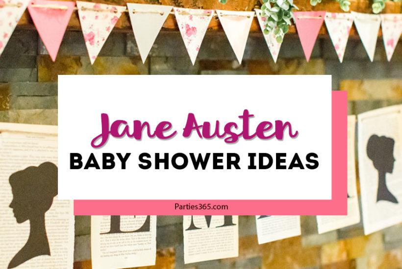Jane Austen baby shower ideas