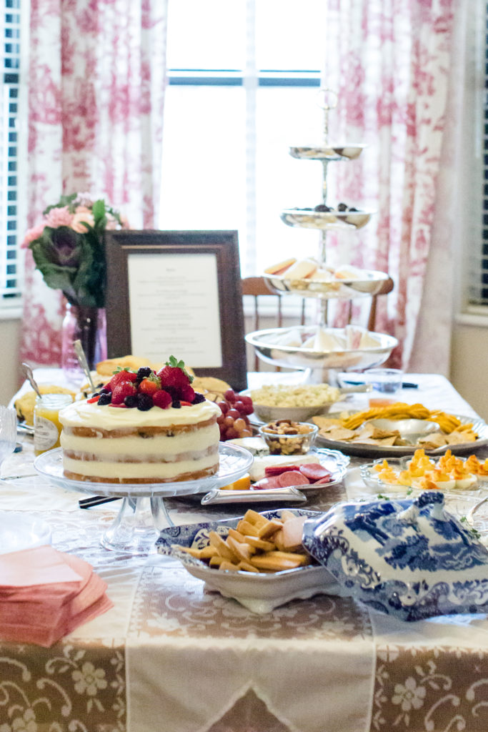 baby shower tea party food table
