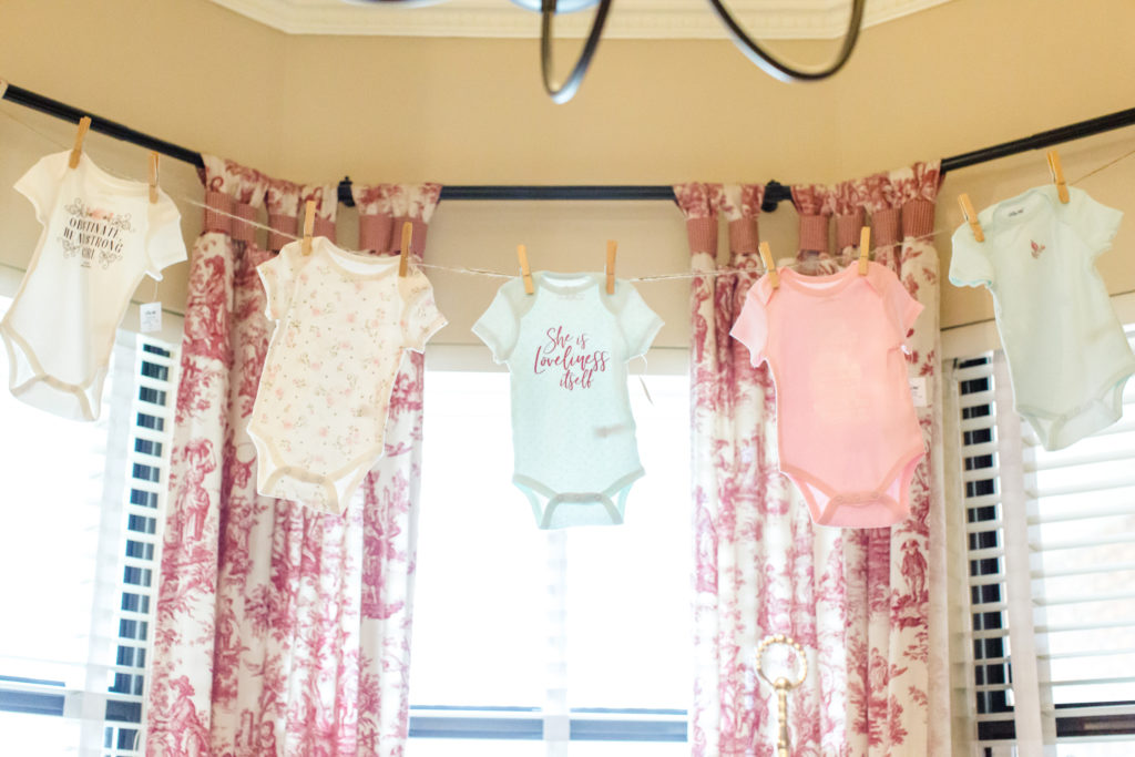 onesie banner for baby shower