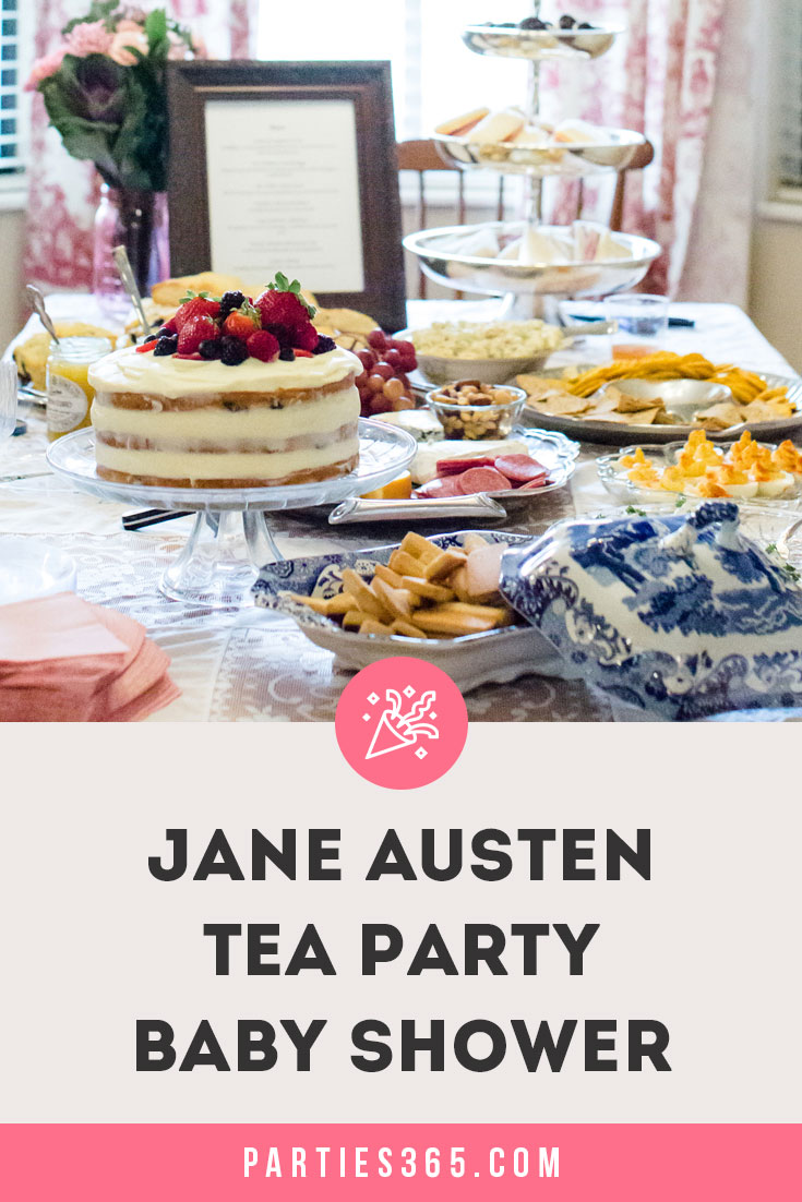 Jane Austen tea party baby shower