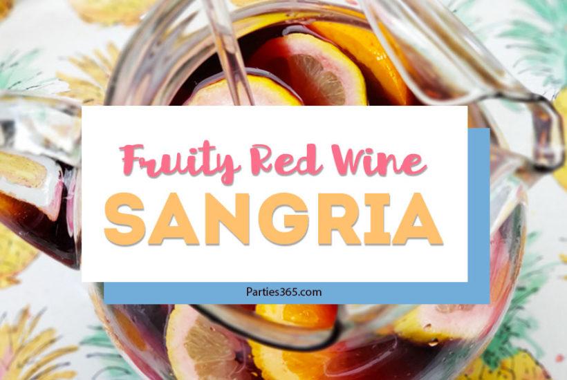 fruity red wine sangria recipe