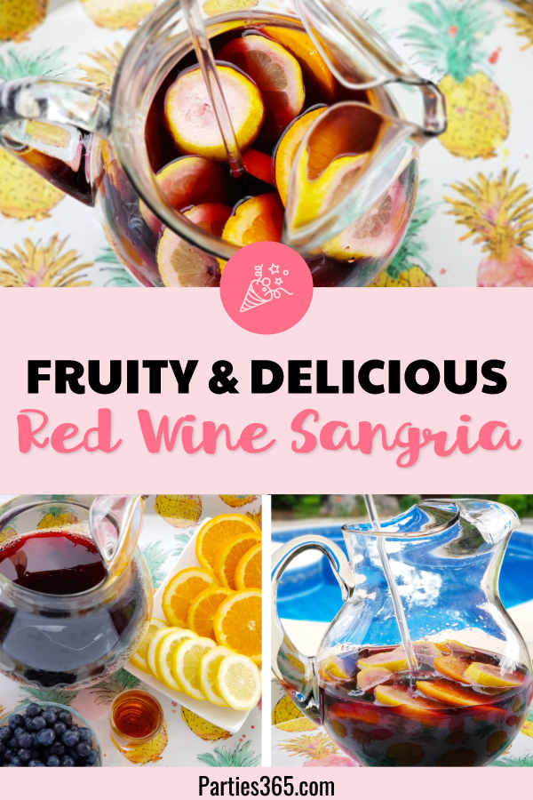 fruity and delicious red wine sangria recipe
